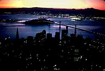 Sunrise over San Francisco and the Bay